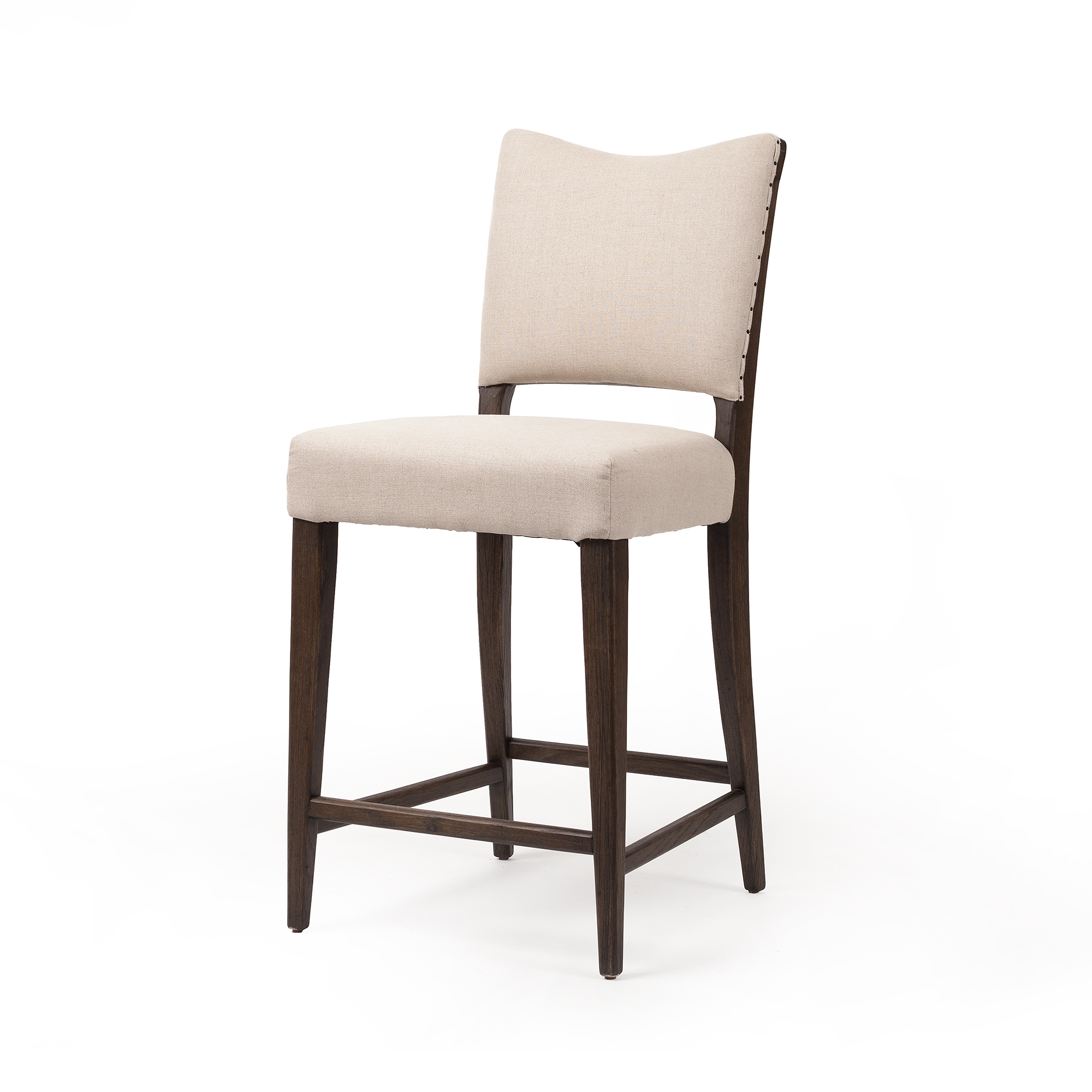 Prime Lennox Counter Stool In Oatmeal Linen Gmtry Best Dining Table And Chair Ideas Images Gmtryco