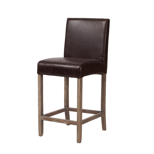 James Counter Stool in Coffee Bean Brown