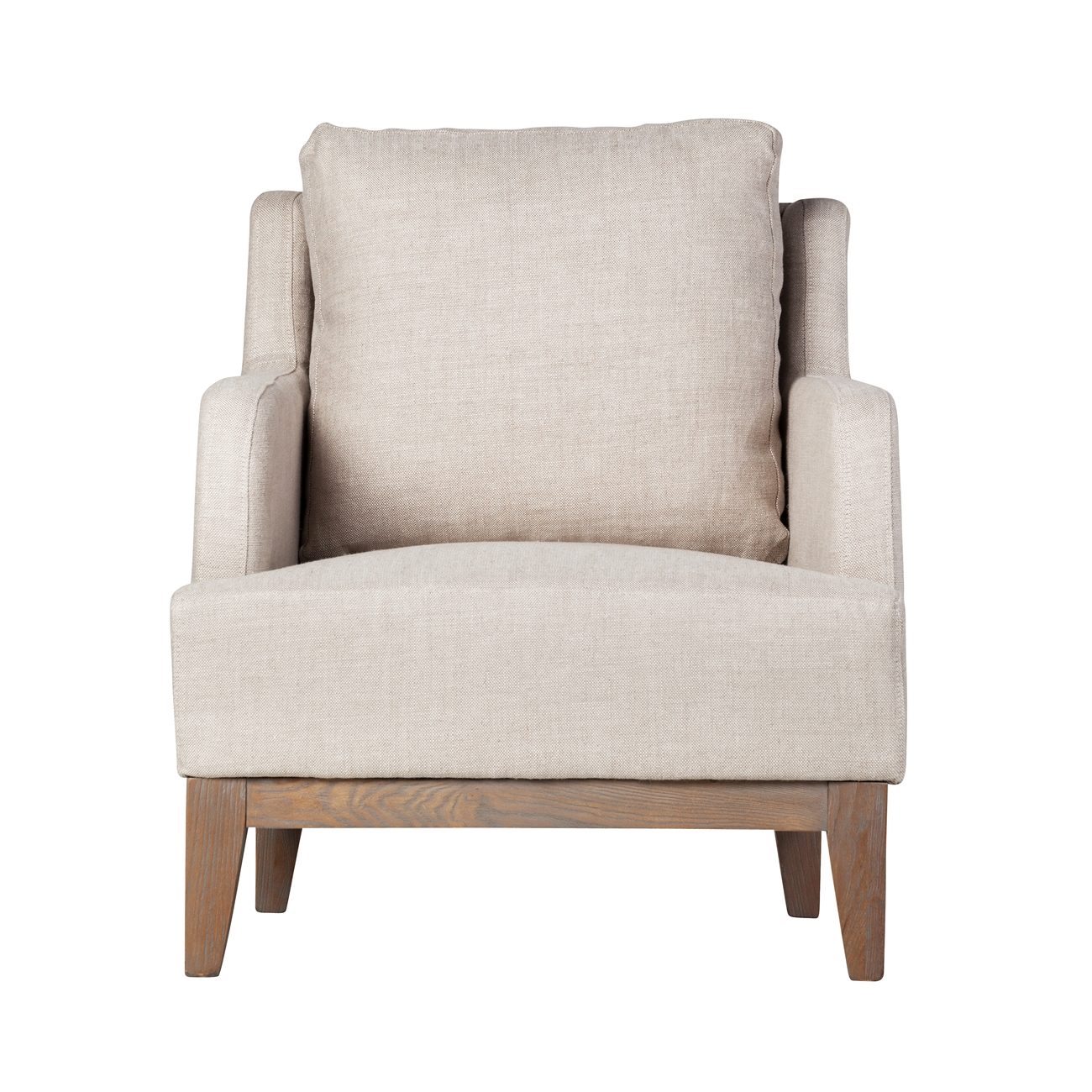 Alexander Off-White Linen Chair  sc 1 st  The Khazana & Alexander White Linen Chair The Khazana Home Austin Furniture Store
