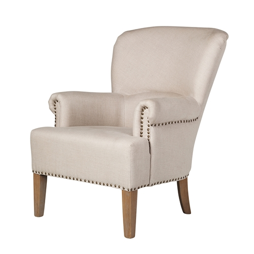 Professors Occasional Arm Chair with Nailheads
