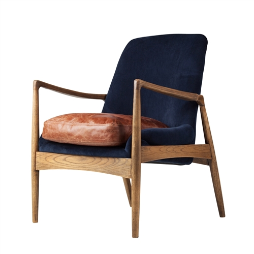 Devon Blue Velvet Occasional Chair