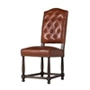 Empire Dining Chair in Brown Leather