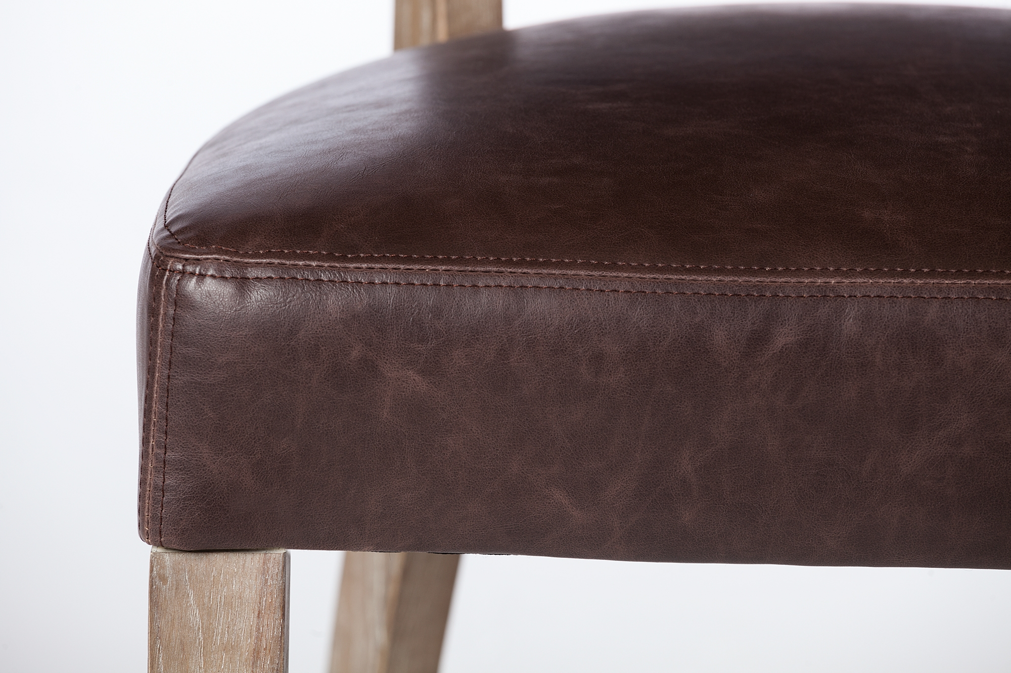 Excellent Adele Leather Side Chair In Vintage Brown Machost Co Dining Chair Design Ideas Machostcouk