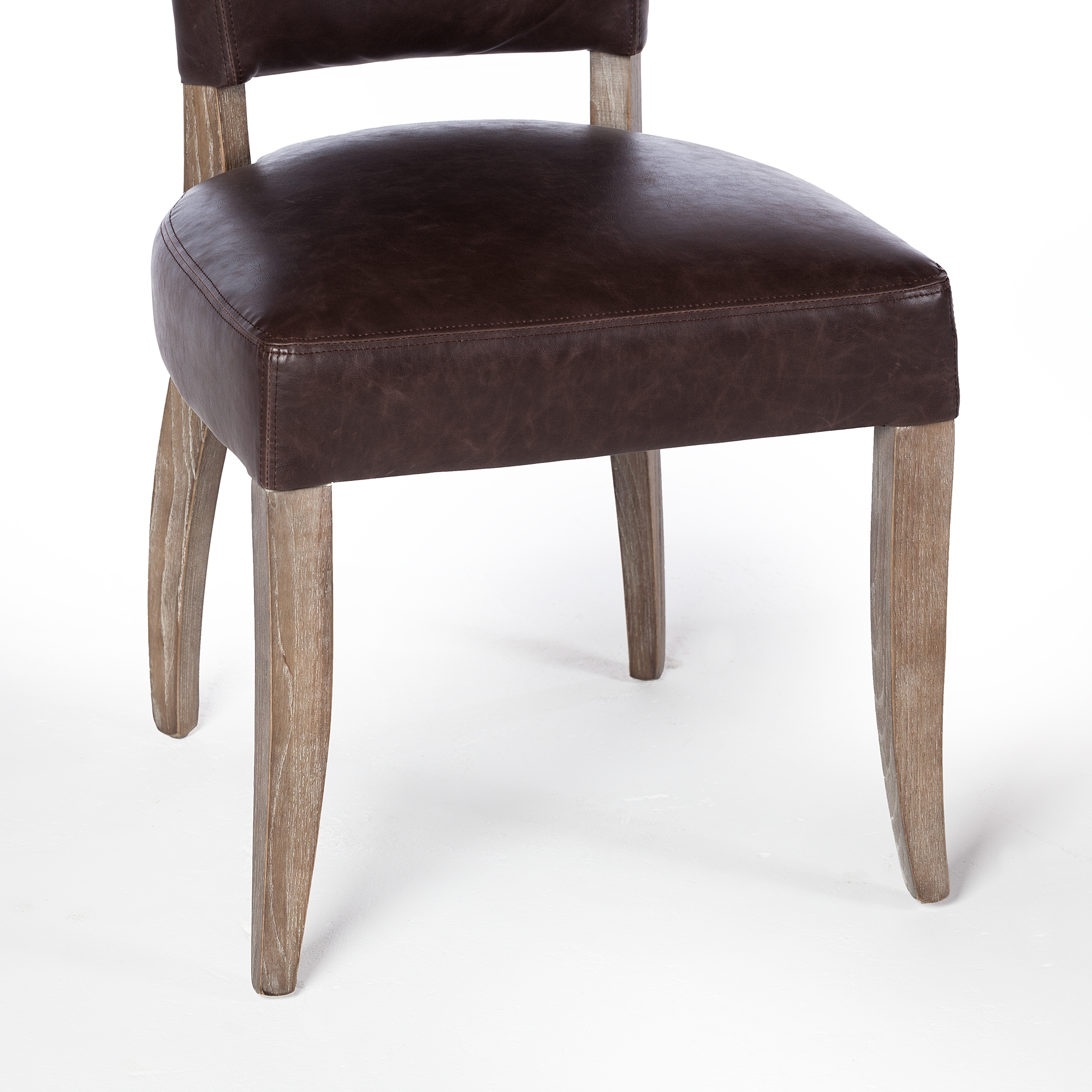 Tremendous Adele Leather Side Chair In Vintage Brown Machost Co Dining Chair Design Ideas Machostcouk