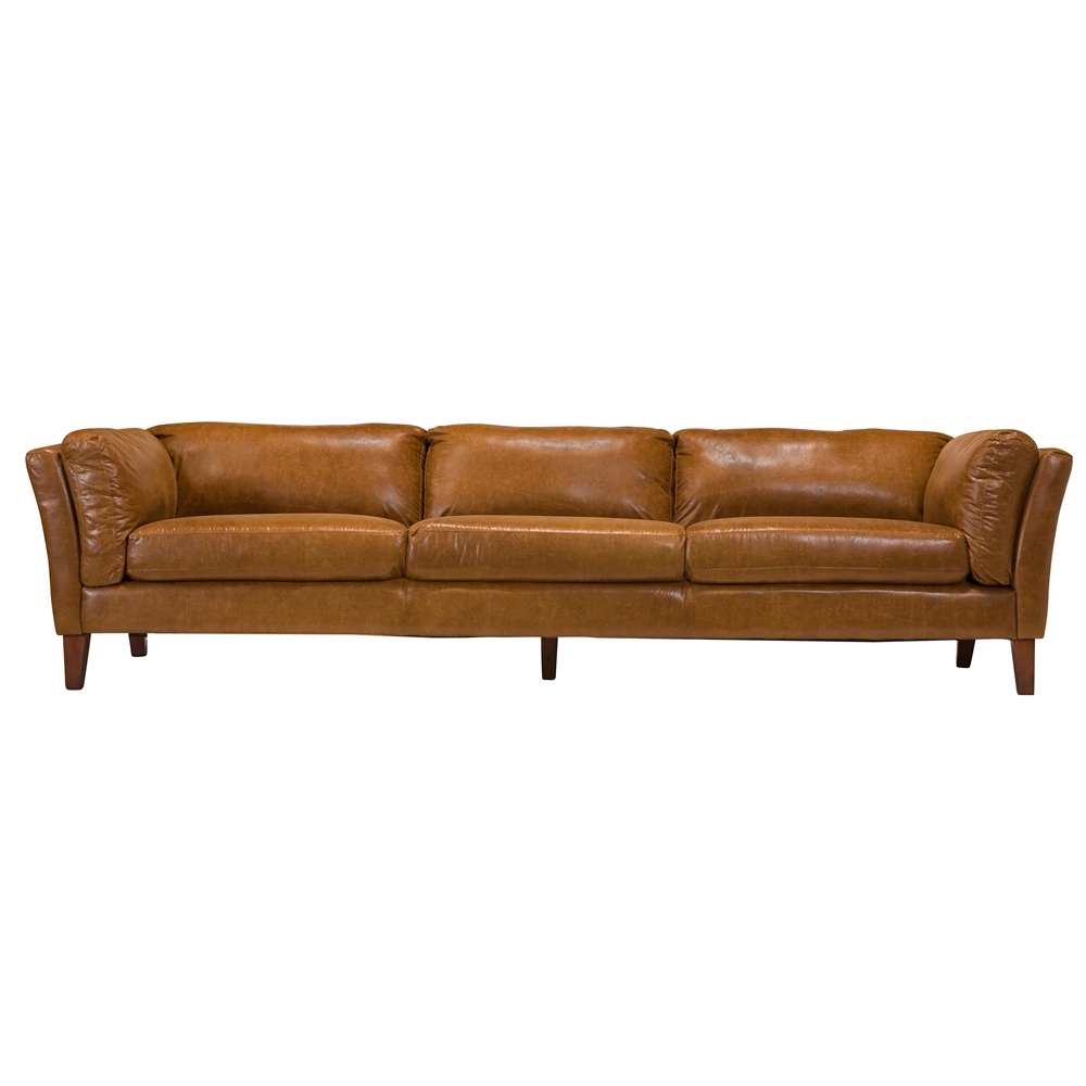 Draper 4 Seater Leather Sofa, The Khazana Home Austin Furniture Store