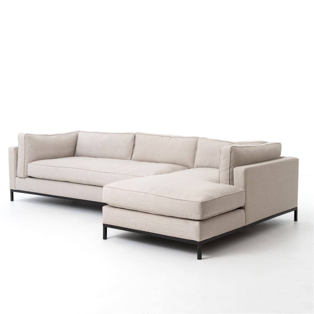Atelier Grammercy 2 Piece Sectional Right Arm Chaise  sc 1 st  The Khazana : right arm chaise - Sectionals, Sofas & Couches