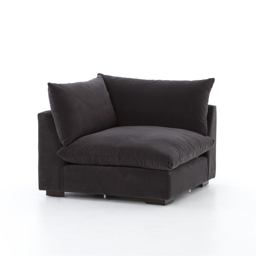 Perfect Atelier Grant Sectional Corner Sofa In Henry Charcoal