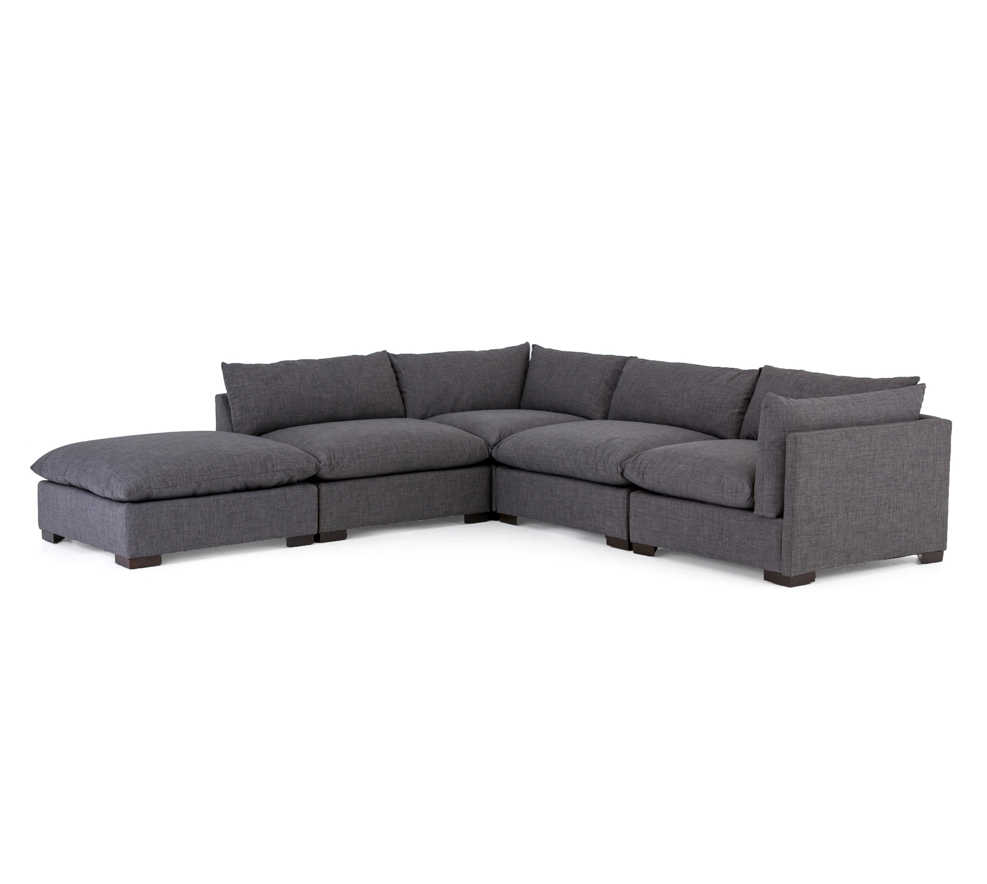 Amazing Westwood 4 Piece Sectional With Ottoman Pabps2019 Chair Design Images Pabps2019Com