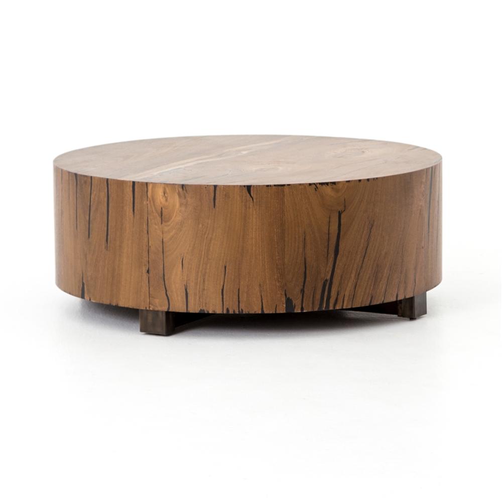 Wesson hudson round coffee table the khazana home austin wesson hudson round coffee table in natural yukas geotapseo Images