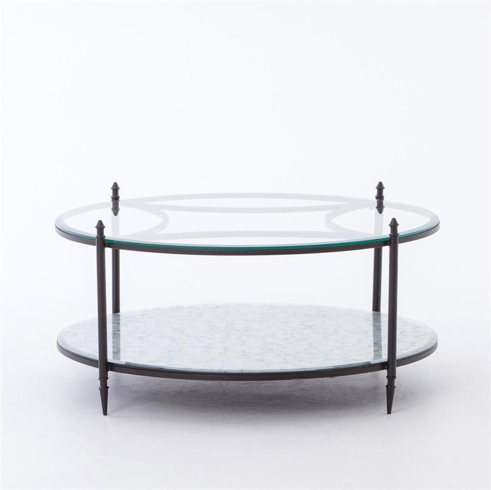 Belmont Elisha Round Mirrored Coffee Table