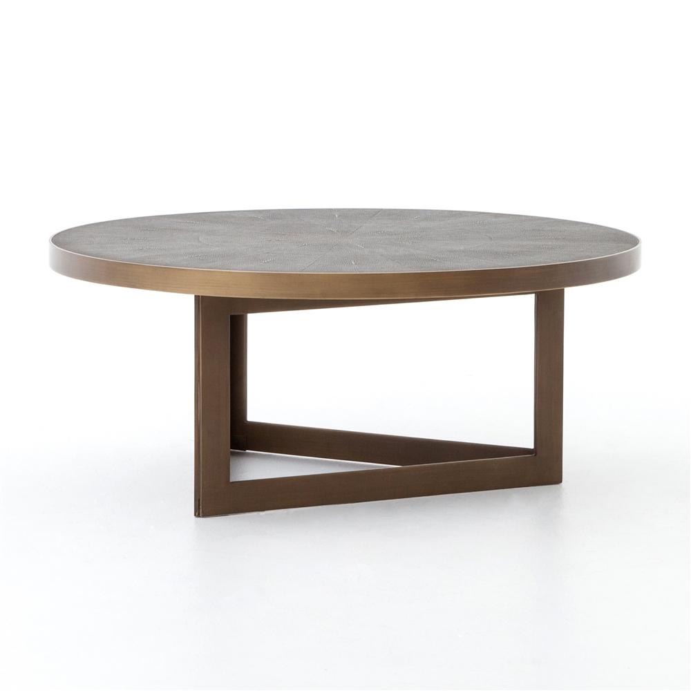Bentley Shagreen Round Coffee Table The Khazana Home Austin