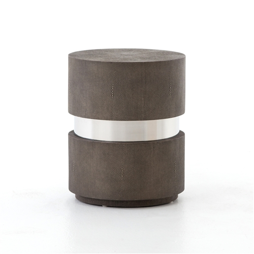 Bentley Shagreen Drum End Table