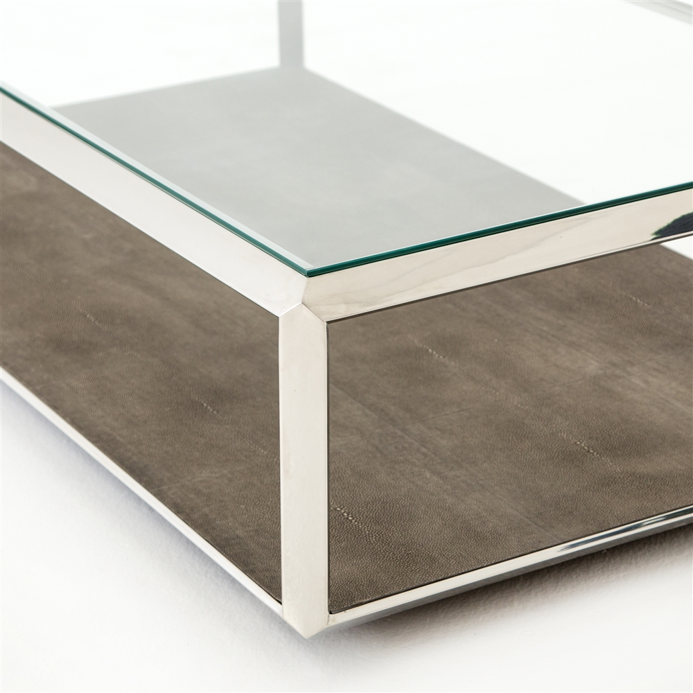 Bentley Shagreen Shadowbox Coffee Table ...