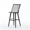 Belfast Lewis Windsor Barstool - Black Oak