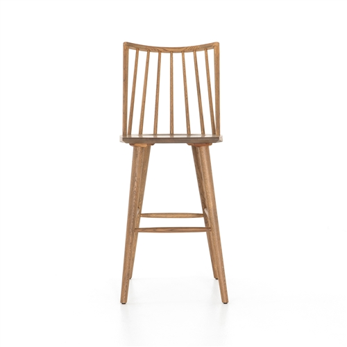Belfast Lewis Windsor Barstool - Sandy Oak