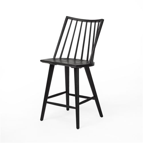 Belfast Lewis Windsor Counterstool - Black Oak