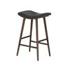 Union Saddle Bar Stool, Distressed Black