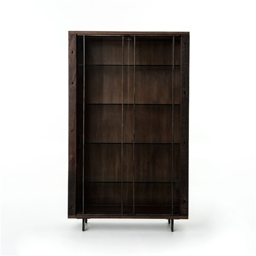 Bina Geoff Bookcase with Glass Shelves