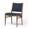 Bina Side Chair in Blue Canvas