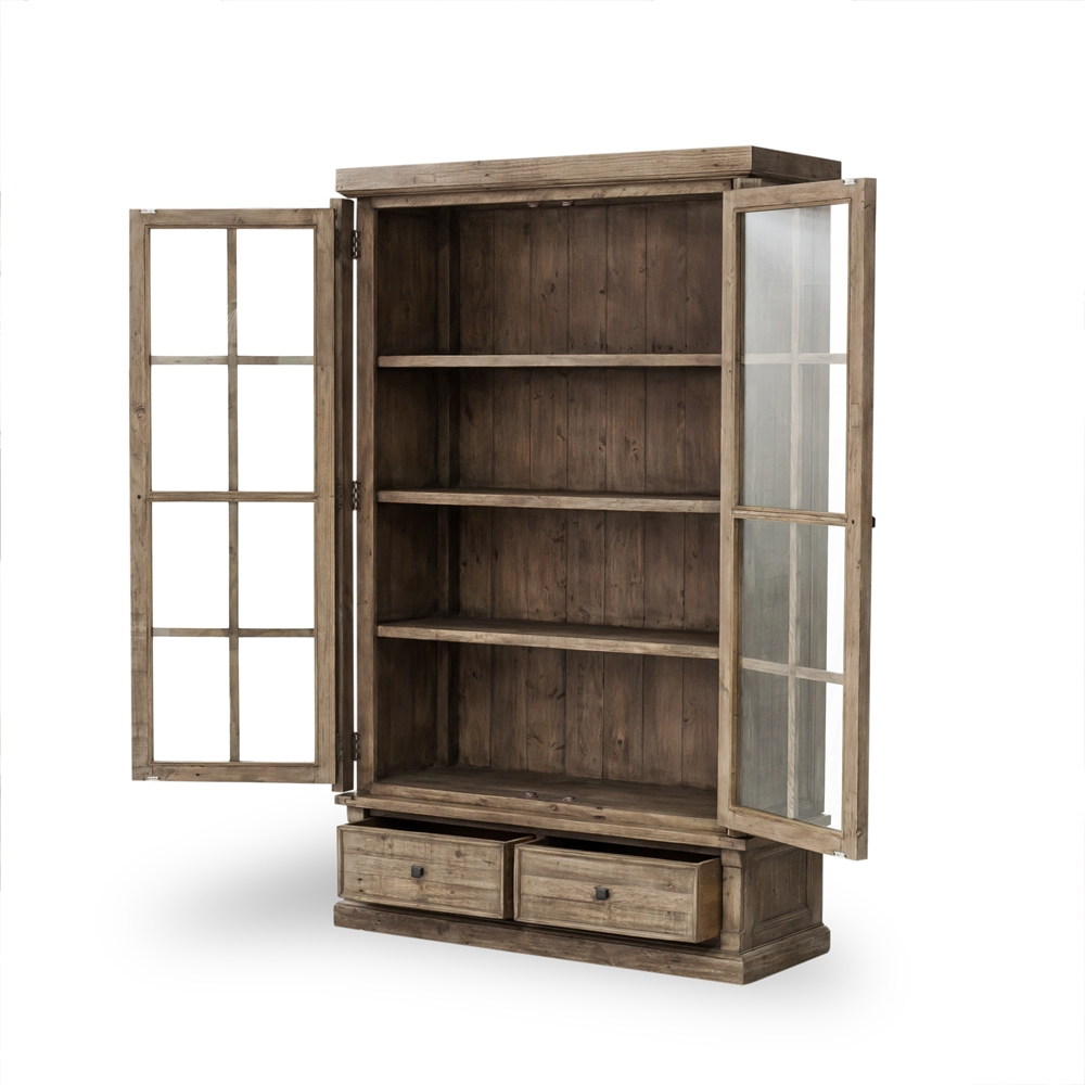 Perfect Cintra Large Display Cabinet In Rustic ...