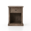Cintra Nightstand 1 Drawer in Rustic Sundried Ash