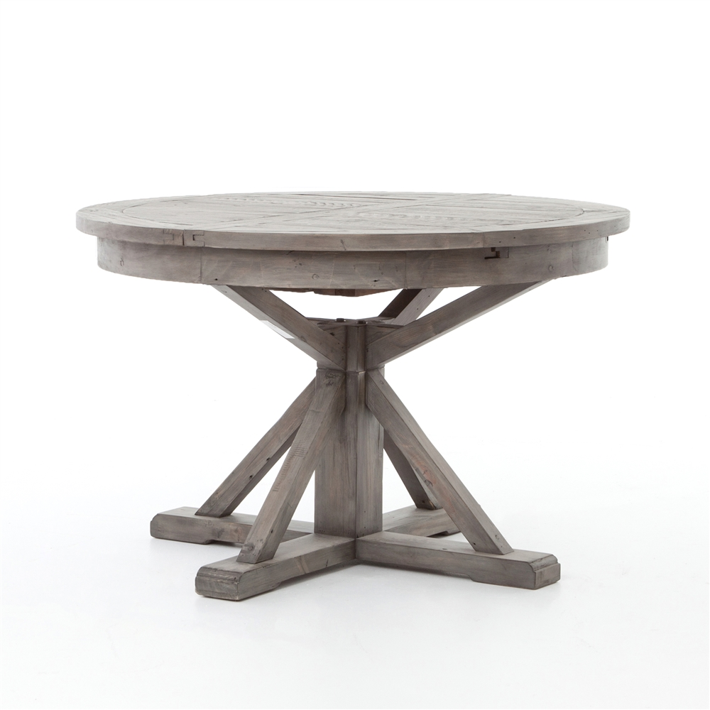 """Cintra Extension Dining Table 48"""" Black Olive' The Khazana Home"""