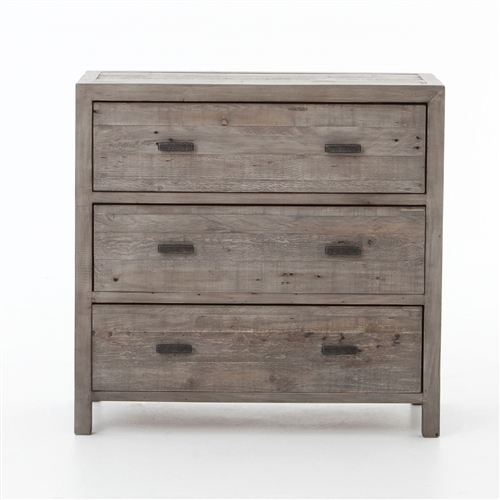 Caminito 3 Drawers Chest Cabinet in Black Olive