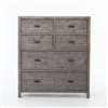 Caminito 6 Drawers Tall Boy Chest in Black Olive