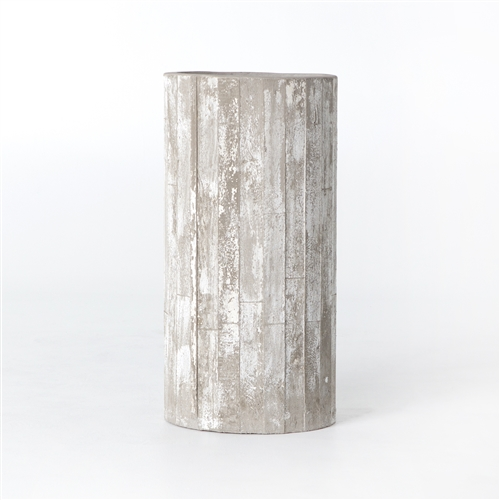 Constantine White Washed Planter, Tall