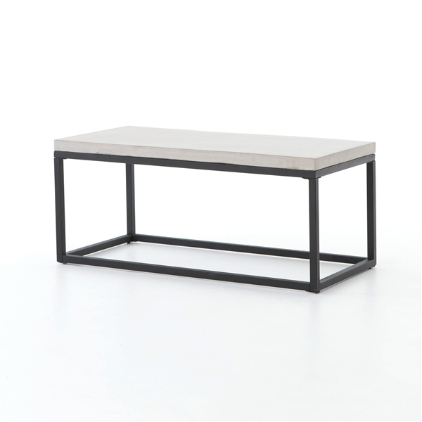 "Constantine Maximus 40"" Coffee Table in Natural Concrete"