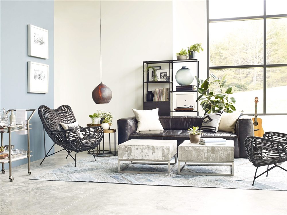 Wicker Rattan Living Room Furniture. Constantine  Concrete Coffee Table Khazana Home Austin Furniture