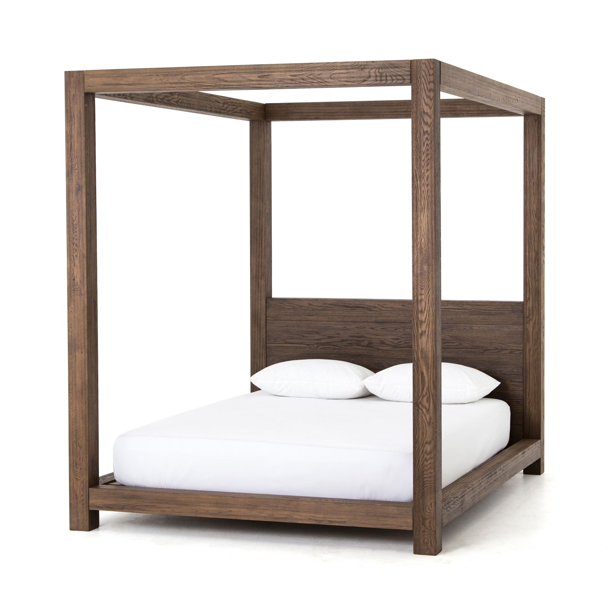 Amazon Com Best Choice Products Modern 4 Post Canopy Queen Bed W