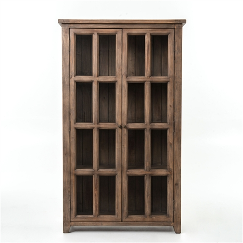 Irish Coast Large Display Cabinet in Sundried Ash