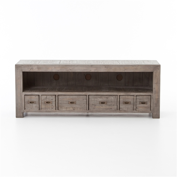 Post & Rail Large TV Cabinet in Black Olive