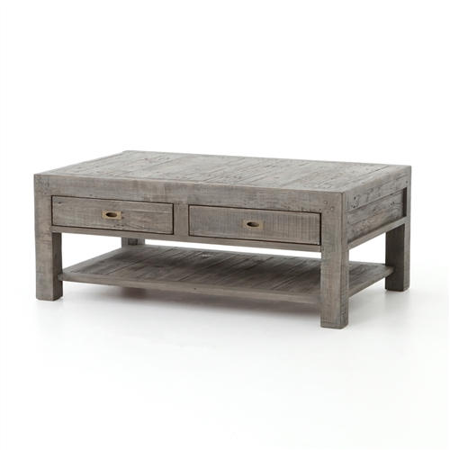 Post & Rail Coffee Table in Black Olive