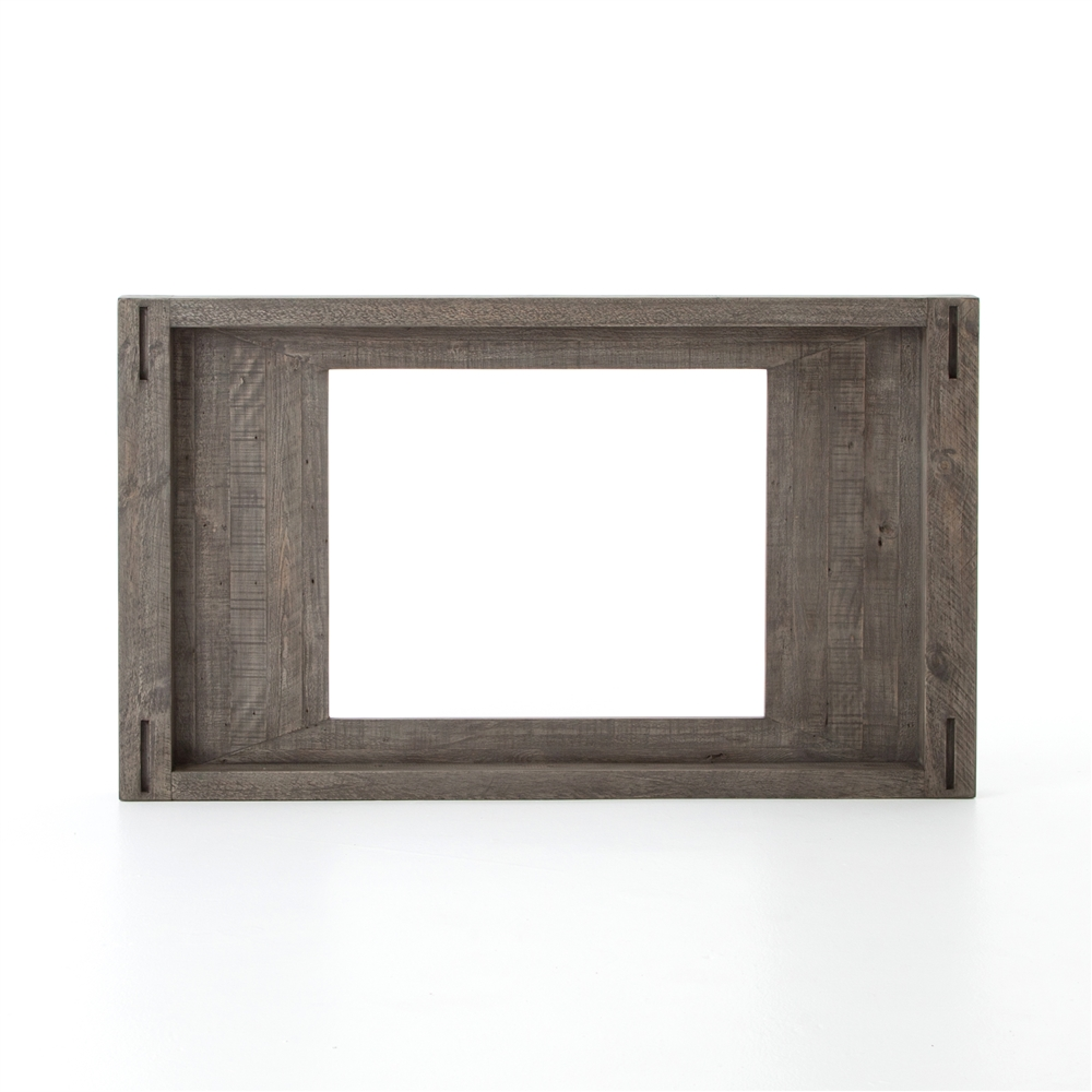 Post & Rail Media Frame, Small, The Khazana Home Austin Furniture Store