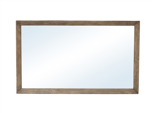 Post & Rail Mirror in Rustic Sundried Ash