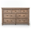 Settler Seven Drawer Dresser in Sundried Ash