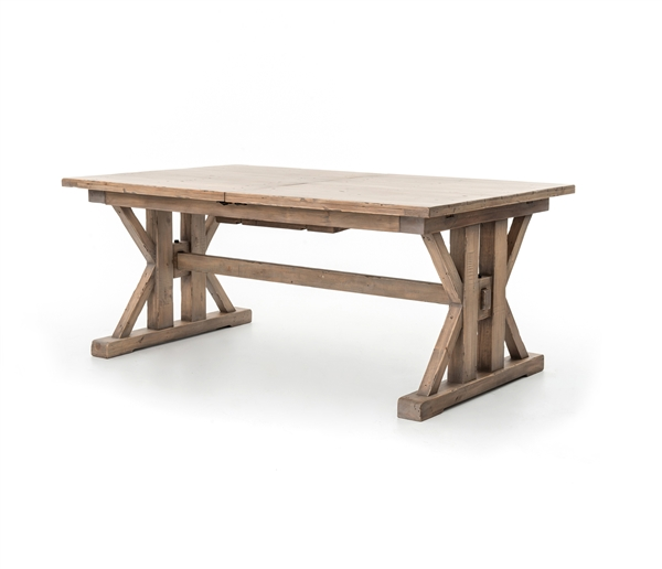 "Tuscan 72""/96"" Spring Extension Dining Table in Sundried Wheat"