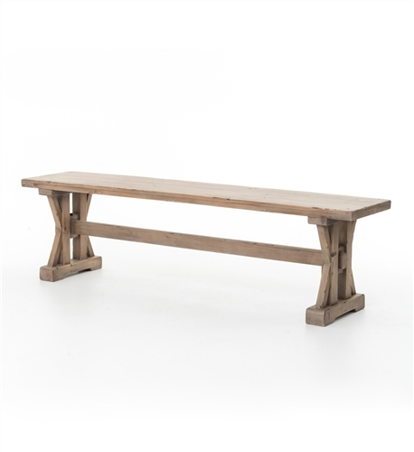 Tuscan Spring Dining Bench in Sundried Wheat