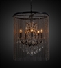Vaille Crystal Chandelier with 5 bulbs