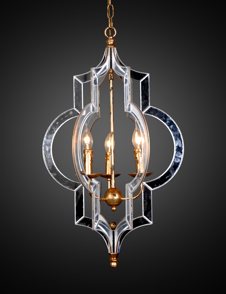 Orangic mirror 3 bulb chandelier the khazana home austin furniture orangic mirror 3 bulb chandelier aloadofball Images