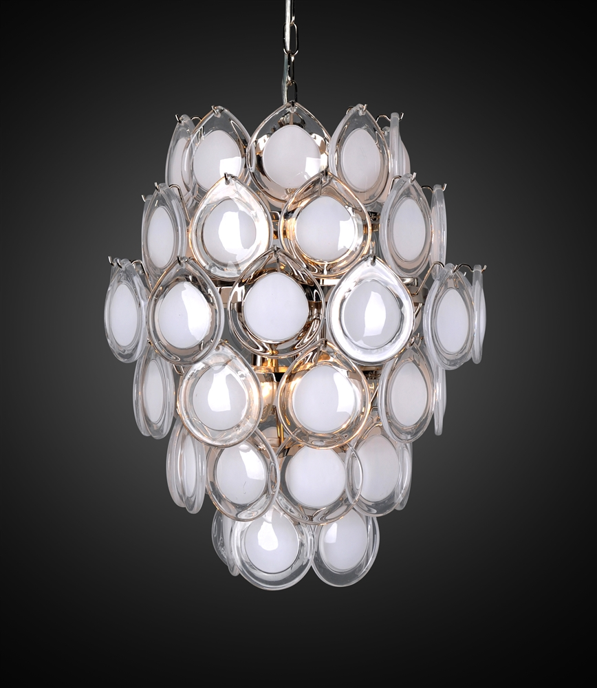 Design Tree Home Diva White Opal Chandelier The Khazana Home