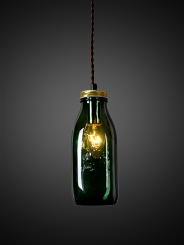 Dark Green Jar Pendant