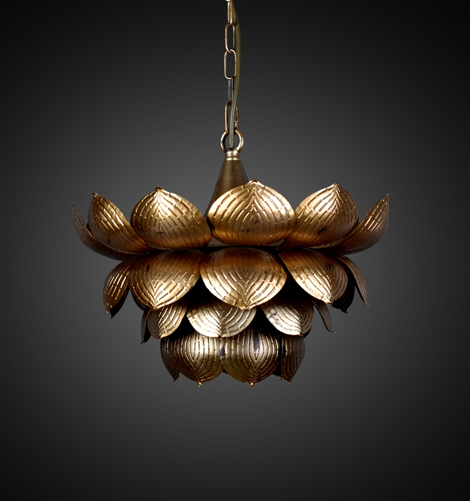 Nice Flowering Lotus Hanging Pendant
