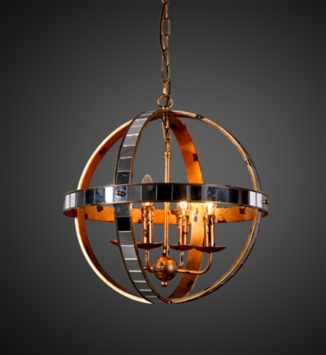 Mirrored Orb Chandelier