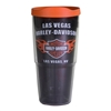 Insultated 24oz Las Vegas H-D Custom Tumbler with Orange Lid