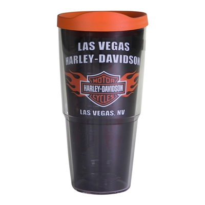 Las Vegas Harley-Davidson Insulated 24-Ounce Plastic Tumbler w/ Lid