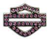 Harley-Davidson Pink Rhinestone Bar & Shield Pin - Shop.LVHD.com