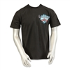 men's modern style black shortsleeved Las Vegas Harley-Davidson tshirt with pin-up model in martini glass on back